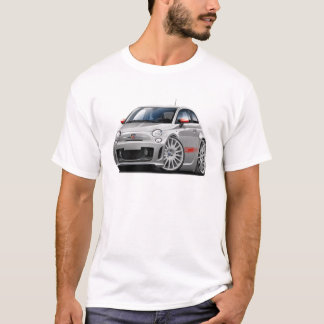 T-shirt Voiture de gris de Fiat 500 Abarth