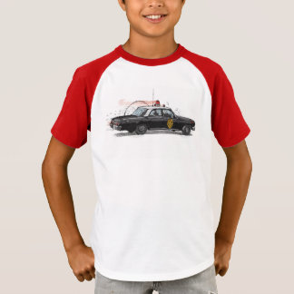 T-shirt Voiture de police américaine classique
