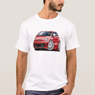 T-shirt Voiture de rouge de Fiat 500 Abarth