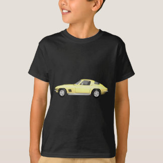 T-shirt Voiture de sport 1967 de Corvette : Finition jaune