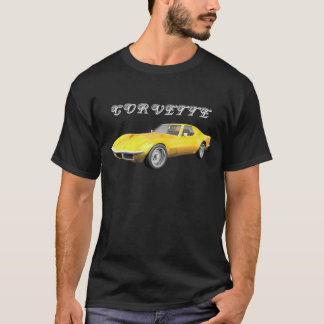 T-shirt Voiture de sport 1970 de Corvette : Finition jaune