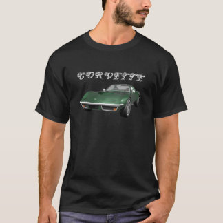 T-shirt Voiture de sport 1970 de Corvette : Finition verte