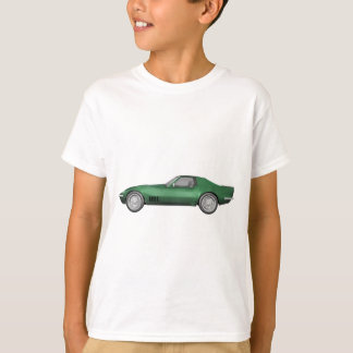 T-shirt Voiture de sport 1970 de Corvette : Finition verte