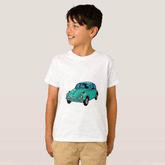 T-shirt Voiture hippie bleue Hanes TAGLESS