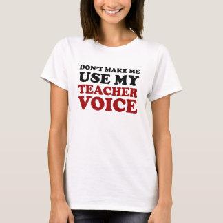 T-shirt Voix drôle rouge et noire de professeur