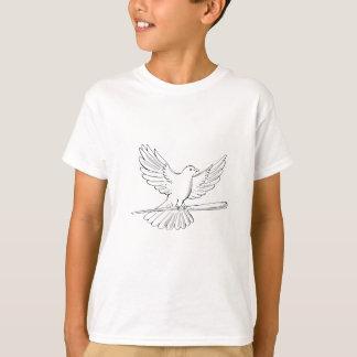 T-shirt Vol de pigeon ou de colombe avec le dessin de
