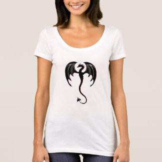T-shirt vol noir de dragon