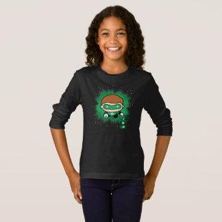 T-shirt Vol vert de lanterne de Chibi par l'espace