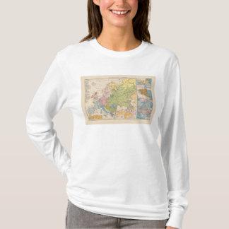 T-shirt Volkerkarte von Europa, carte de l'Europe