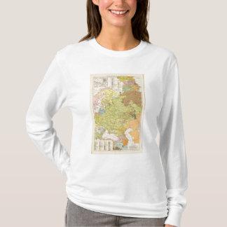 T-shirt Volkerkarte von Russland - carte de la Russie