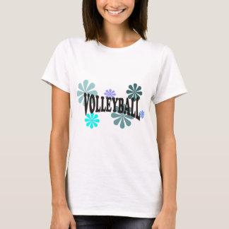 T-shirt Volleyball avec les fleurs bleues