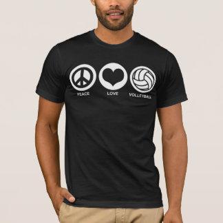 T-shirt Volleyball d'amour de paix