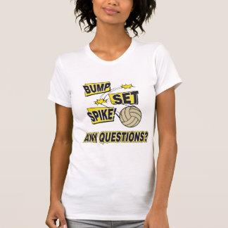 T-shirt Volleyball réglé de transitoire de bosse