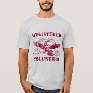 T-shirt volontaire enregistré
