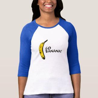 T-shirt Vont la banane ! Pièce en t de base-ball de dames