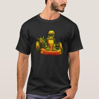 T-shirt Vont le coureur de kart en jaune