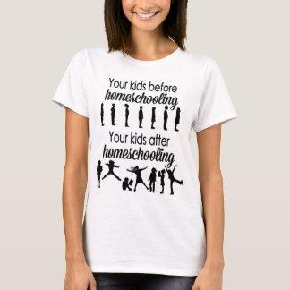 T-shirt Vos enfants avant et après Homeschooling