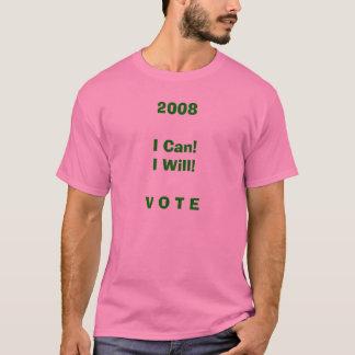 T-shirt Vote de rose et de vert 2008