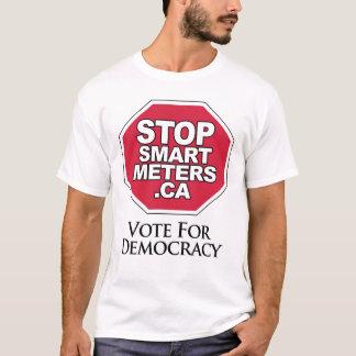 T-shirt Vote pour la démocratie - arrêtez les mètres