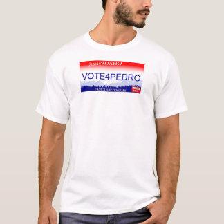 T-shirt Vote pour la plaque minéralogique de Pedro Idaho