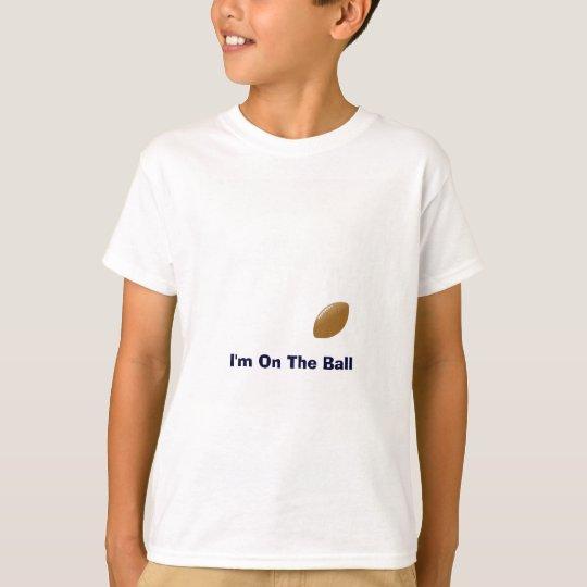 T-shirt Votre chemise du football avec la boule sur le