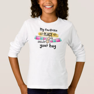 T-shirt Votre étreinte ma chemise préférée de douille de