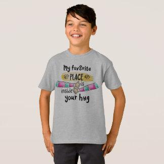 T-shirt Votre étreinte ma chemise préférée de Tagless