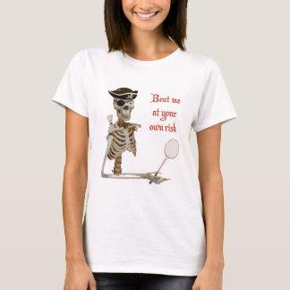 T-shirt Votre pirate de badminton de risque
