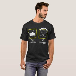 T-shirt Votre week-end ma de week-end de parapentisme