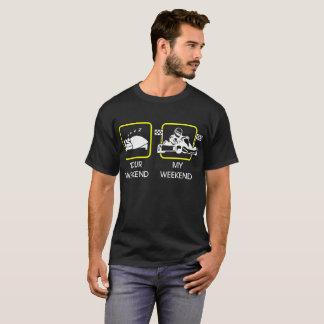 T-shirt Votre week-end mon week-end Karting folâtre le