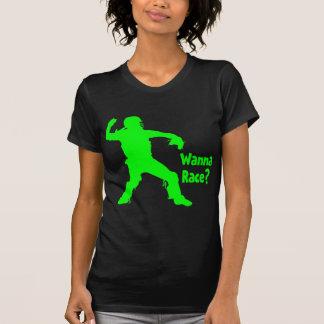 T-shirt Voulez emballer, vert de néon