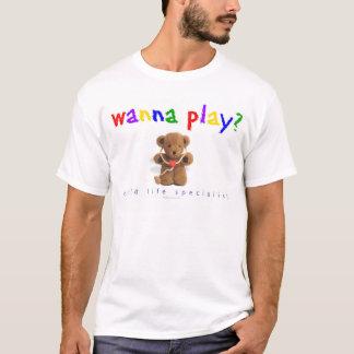 T-shirt Voulez jouer ? (Spécialiste en vie d'enfant)