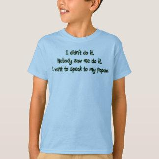 T-shirt Voulez parler à la papaye