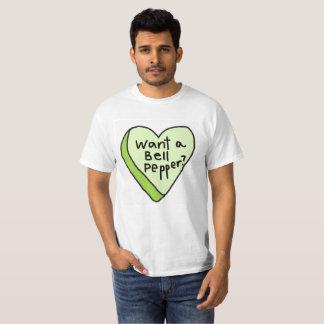 T-shirt Voulez une pièce en t de paprika