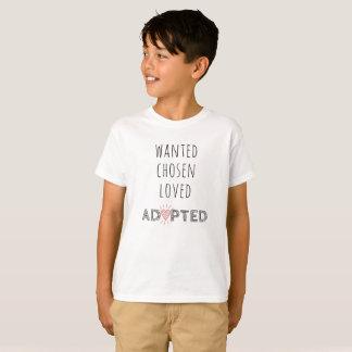 "T-shirt ""Voulu, choisi, aimé, adopté """