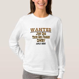 T-shirt VOULU : COWBOY - customisé