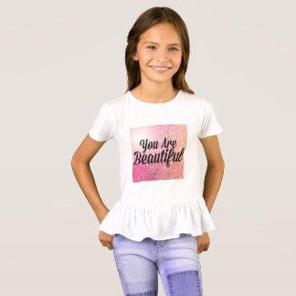T-shirt Vous êtes beau dessus de fille