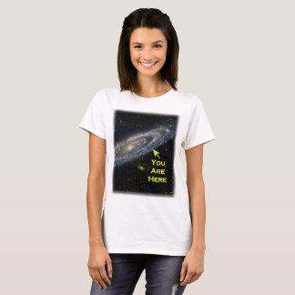 T-shirt Vous êtes ici dans la galaxie