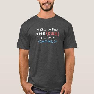 T-shirt Vous êtes le CSS à mon HTML