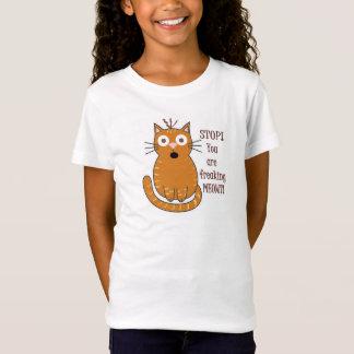 T-Shirt Vous Freaking Meowt !  Pièce en t animale de