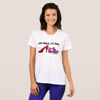 T-shirt Vous marchez je courrez la pièce en t