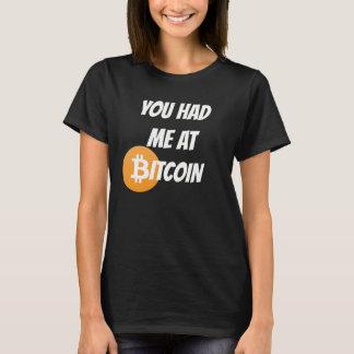 T-shirt Vous m'avez eu à Bitcoin - chemise de Blockchain