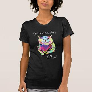 T-shirt Vous m'incitez à ronronner ! Chemise de chat