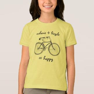 T-shirt Vous plus la bicyclette égale le vélo heureux de