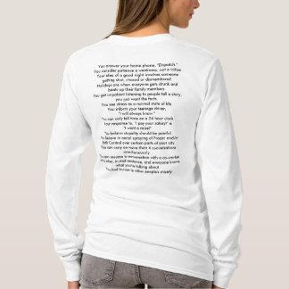 T-shirt Vous savez que vous avez été un whe trop long
