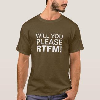 T-SHIRT VOUS, SVP, RTFM !