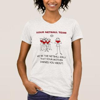 T-shirt Voyage fait sur commande de net-ball de conception