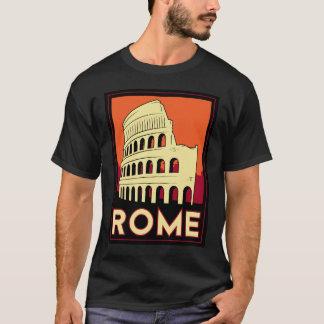 T-shirt voyage vintage de l'Europe de Colisé de Rome