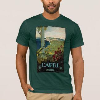 T-shirt Voyage vintage, île côte de Capri, Italie Italie