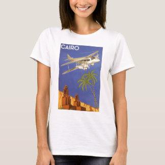 T-shirt Voyage vintage vers le Caire, Eygpt, avion de